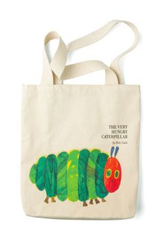 Bookshelf Bandit Tote in Caterpillar, #ModCloth-This would be perfect for carrying books to and from the library!