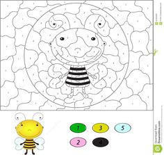 color-number-educational-game-kids-funny-cartoon-bee-ve-vector-illustration-schoolchild-preschool-62459393.jpg (1372×1300)