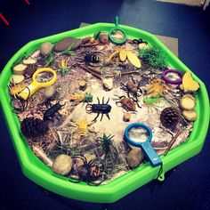 Investigate minibeasts tuff tray idea. Have children tick off the minibeasts they find with our fun hunt checklist. Sign up to Twinkl to download this resource and for more minibeast ideas! #minibeasts #tufftray #tuffspot #investigation #bugs #insect #eyfs #earlyyears #twinkl #twinklresources #teaching #teachingresources #homeeducation #diykids #parenting #childminders