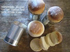 Homemade Bread in a recycled can!