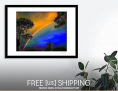Discover «Early Morning Summer Rainbow», Limited Edition Fine Art Print by Glink - From $29 - Curioos