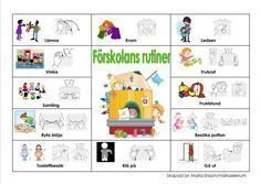 Sign Language Book, Sign Language Phrases, Preschool Routine, Learn Swedish, Swedish Language, French Worksheets, Baby Barn, Autism Spectrum Disorder, Reggio Emilia