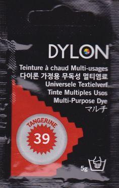 Teinture multi-usages Dylon MANDARINE N°39 (=capsule)