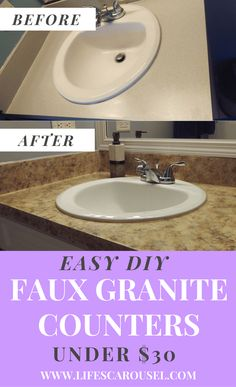 Faux DIY Granite Cou