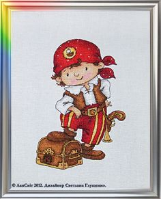 Lansvit - With me is not lost! Cute cross stitch pirate