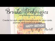 Learn how to use Brushos with your stencils. Using stencils with brushos or color bursts. What a WOW technique