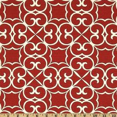 red trellis curves thin lines home decor fabricfabric swatchesdiscount designerhome - Discount Designer Home Decor