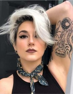 Trendy ideas of blonde hair colors for side swept platinum blonde hair colors wi. Trendy ideas of Short Hair Lengths, Short Hair Cuts, Short Hair Styles, Blonde Hair With Roots, Bleach Blonde Hair, Hair Color Dark, Cool Hair Color, Hair Colors, Short Platinum Blonde Hair