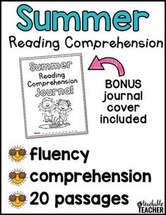Summer Reading Comprehension is the perfect way to practice reading fluency and comprehension! These engaging stories and reading comprehension questions will entertain students for morning work, homework, small groups, or independent work. | kindergarten reading comprehension passages first grade readers Stop summer slide