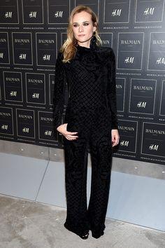 Diane Kruger en BALMAIN x H&M en NY
