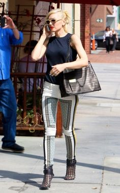 Fancy Pants WHO: Gwen Stefani WHAT: Paige Denim jeans, Givenchy shoes WHERE: On the street in Los Angeles WHEN: July 13, 2013