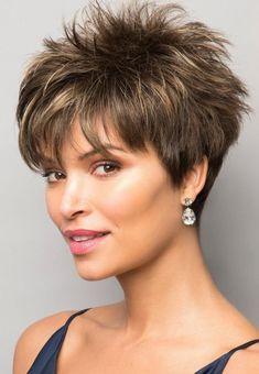 Pixie Boy Cut Hairstyles Women's Short Length Straight Synthetic Hair Wigs Capless Wigs Pixie Boy Cut Hairstyles Women's Short Length Straight Synthetic Hair Wigs Capless Wigs hair cuts for women Short Hairstyles For Thick Hair, Short Pixie Haircuts, Short Hair Cuts For Women, Pixie Hairstyles, Curly Hair Styles, Fashion Hairstyles, Short Womens Hairstyles, Short Choppy Hair, Short Grey Hair
