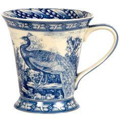 Blue & White - Stash Tea Blue Peacock Mug