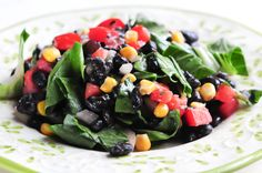 Veggie Salad with Black Beans - Rawmazing Raw and Cooked Vegan Recipes Eating Raw, Clean Eating, Healthy Eating, Eating Light, Raw Vegan Recipes, Healthy Recipes, Vegan Raw, Drink Recipes, Healthy Foods