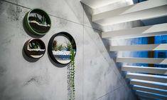 Zestaw trzech doniczek ściennych Circle planter - doniczki i wazony - Pakamera.pl