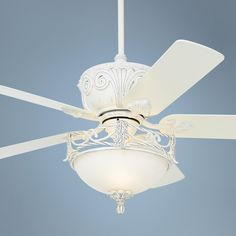 Beach cottage ceilig fan shabby chic ceiling fan ceiling systems casa deville rubbed white ceiling fan with light style 87534 45518 v4314 aloadofball Choice Image