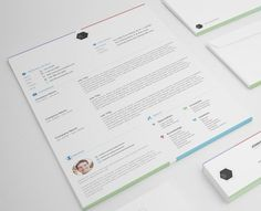 The Multi-Color Résumé: | 27 Beautiful Résumé Designs You'll Want To Steal
