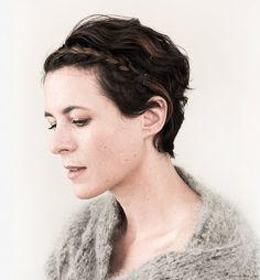 short hair, braid, wool sweater / Garance Doré