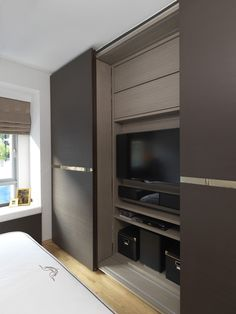 38 Best Contour Design Ideas For Sliding Door Gallery is part of Bedroom wardrobe - Home improvement includes simple yet innovative methods to spice up your home A great idea to change the look of […] Bedroom Closet Doors, Wardrobe Design Bedroom, Bedroom Cupboard Designs, Bedroom Cupboards, Tv In Bedroom, Wardrobe Doors, Sliding Wardrobe, Tv In Wardrobe, Bed Room