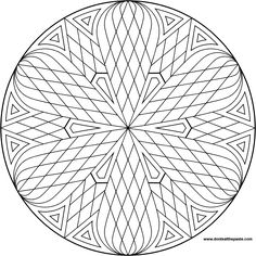 A simple mandala to color- also available in jpg format