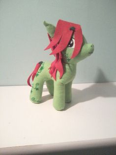 Poison Ivy My Little Pony plushie by Sewn Together Reflections on Etsy, $25.00
