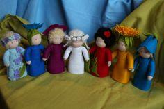 Bloem kinderen //Flower pop //Root kinderen //Mother aarde //Miniature pop //Waldorf Doll natuur / / natuur //Season tabel tabel