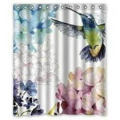 Shop For Unique Nursery Art Like The Hummingbird Shower Curtain By  Haroulita On BoomBoomPrints Today! Customize Colors, Style And Design To  Make Tu2026