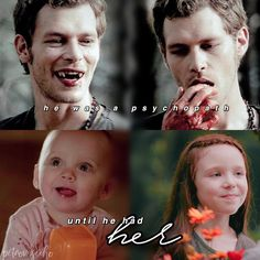 [The Originals] hope is the one who really changed Klaus for good. Not Caroline. Not Cami. But his one and only daughter ❤︎ —…