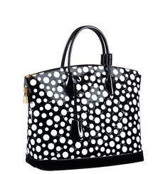 Lockit MM Monogram Vernis Dots Infinity Black - Yayoi Kusama pour Louis Vuitton