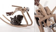 Motorcycle rocking horse by Felix Götze