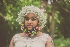 Apart from her distinctive facial hair, Harnaam Kaur has been in the news for her iconic bridal photoshoot in 2015 and as a voice for body positivity. Bearded Model Harnaam Kaur Absolutely SLAYED Her First Runway Show Moustache, Flower Beard, Bearded Lady, Beard Model, Bridal Photoshoot, Bridal Shoot, Poses, Thats The Way, Facon
