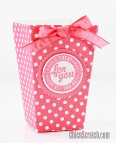 Popcorn Box by Stampin' Up! Demonstrator Angie Juda