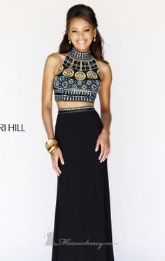 Beaded Two Piece Set Gown by Sherri Hill 11068