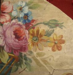 fragment of French hand-painted 19th century original Aubusson tapestry design