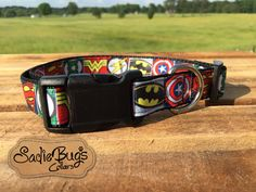 Batman dog collar superman, superhero dog collar