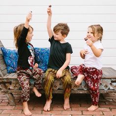 Aren't they looking adorable? They're rocking our Baby Harem Pants