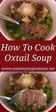 Best Soup Recipes, Healthy Soup Recipes, Dinner Recipes, Cooking Recipes, Keto Recipes, Hawaiian Oxtail Soup Recipe, Oxtail Recipes Crockpot, Traditional Hawaiian Food, Cooking Oxtails