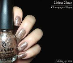 Fashion Polish: China Glaze Holiday Joy 2012 Collection part II : the glitters - Champagne Kisses