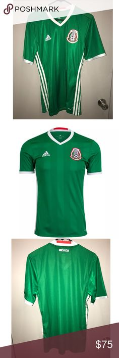 Adidas Mexico Official Authentic Jersey 2016 Copa This a very hard to get AUTHENTIC Adidas 2016 Mexico player issue jersey used in the 2016 Copa America Centenario. It is one of the most beautiful Mexico national team shirts produced in the last decades, and the authentic player issue version is increasingly scarce. Note that player issue jerseys are more fitted as they are made for professional athletes.  Size M adidas Shirts Tees - Short Sleeve