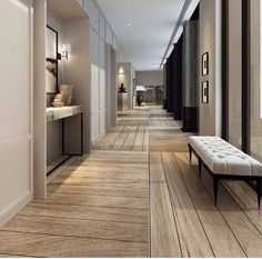 lobby hotel corridor lighting design how to create luxurious hotel feel in your home destination living bracket smackdown Modern Interior, Interior Architecture, Interior And Exterior, Style At Home, Design Hotel, House Design, Hotel Corridor, Flur Design, Wooden Flooring