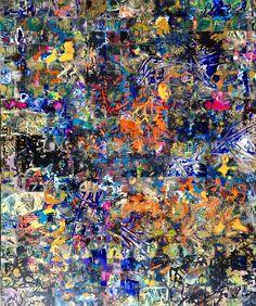 Array 2016 X Acrylic on Board By Lainard Bush Gerhard Richter, Jackson Pollock, My Images, City Photo, Abstract Art, Palette, Paintings, Artists, Board