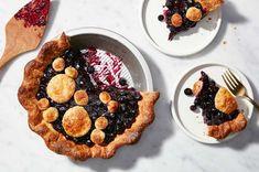 For a better blueberry pie, ditch the oven   King Arthur Baking Double Pie Crust Recipe, Fresh Blueberry Pie, Birthday Pies, Sugar Alternatives, Baking Stone, Best Pie, Summer Dessert Recipes, Fruit Pie, Summer Fruit
