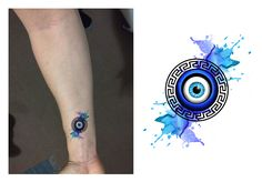 Greek Eye Tattoo Design.  Designer: Andrija Protic