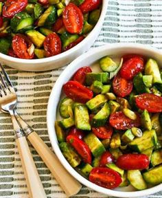 Healthy Lunches for Work - Not-so-Dumb Salad Recipe with Cucumbers, Tomatoes, Onions, Avocado, and Balsamic Vinegar - Easy, Quick and Cheap Clean Eating Recipes That You Can Take To Work - Weekly Meals That Are Great for Health Fitness and Weightloss - Low Fat Recipe Ideas and Simple Low Carb Meals That are High In Protein and Taste Great Cold - Vegetarian Options and Weight Watchers Friendly Ideas that Require No Heat - http://thegoddess.com/healthy-lunches-for-work