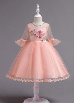 8d44e84cc84b Buy discount In Stock Glamorous Lace & Tulle Jewel Neckline Ball Gown  Flower Girl Dress
