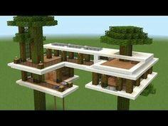 ›Minecraft - How do I build a modern tree house? - pinturest - ›Minecraft – How do I build a modern tree house? Minecraft Mods, Easy Minecraft Houses, Minecraft House Tutorials, Minecraft Bedroom, Minecraft Creations, Minecraft Projects, Minecraft Designs, Minecraft Crafts, Minecraft Furniture