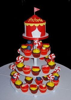 Photo: Lots of carnival themed birthday parities being planned - our Carnival Themed Cupcake Tower is getting lots of pins on Pinterest