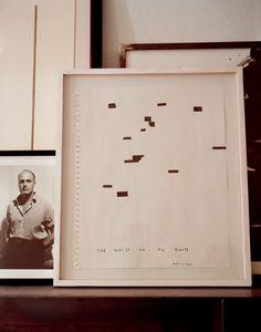 Une maison d'artiste en Suisse Not Vital, prenant la pose chère à Jean Genet, est photographié par Florio Puenter. The Noise in my…