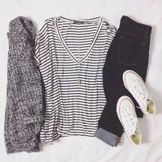 Vnecks are perfect for cute outfits for school!