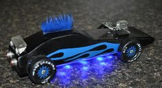 Looking for some new Pinewood Derby car design ideas? Take a look at some of the great cars sent to us in Cub Scouts, Girl Scouts, Wolf Scouts, Awana Grand Prix Car Ideas, Boys Life Magazine, Pinewood Derby Cars, Pinewood Derby Car Templates, Scout Activities, Craft Activities